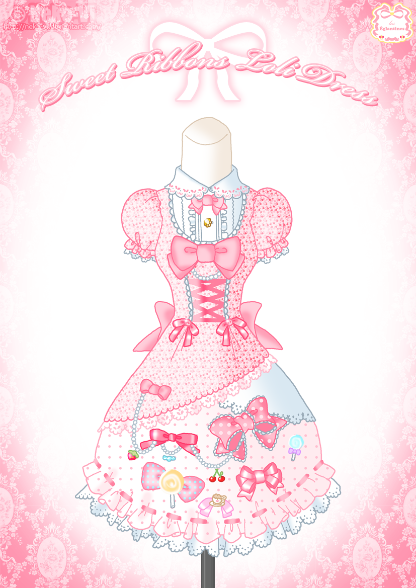 Sweet Ribbons Loli Dress by Neko-Vi on DeviantArt