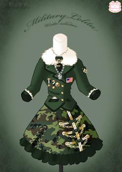 Military Lolita Winter Dress