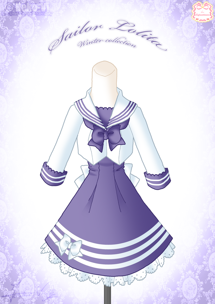 Sailor Lolita Winter Dress by Neko-Vi