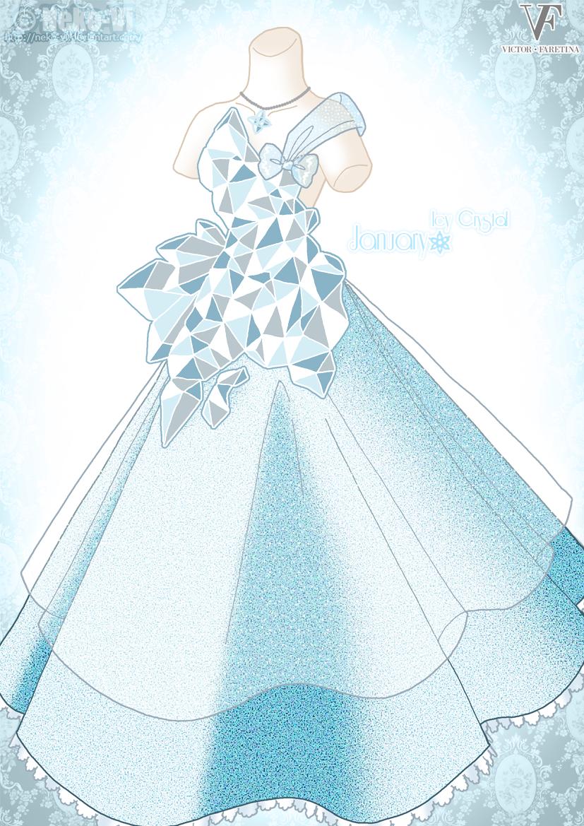 Icy Crystal - January by Neko-Vi