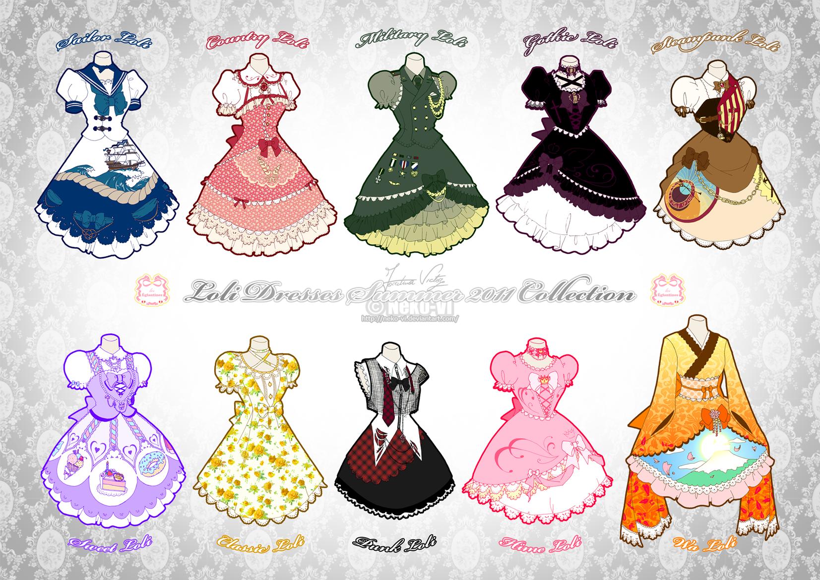 Lolita Summer 2011 Collection by Neko-Vi