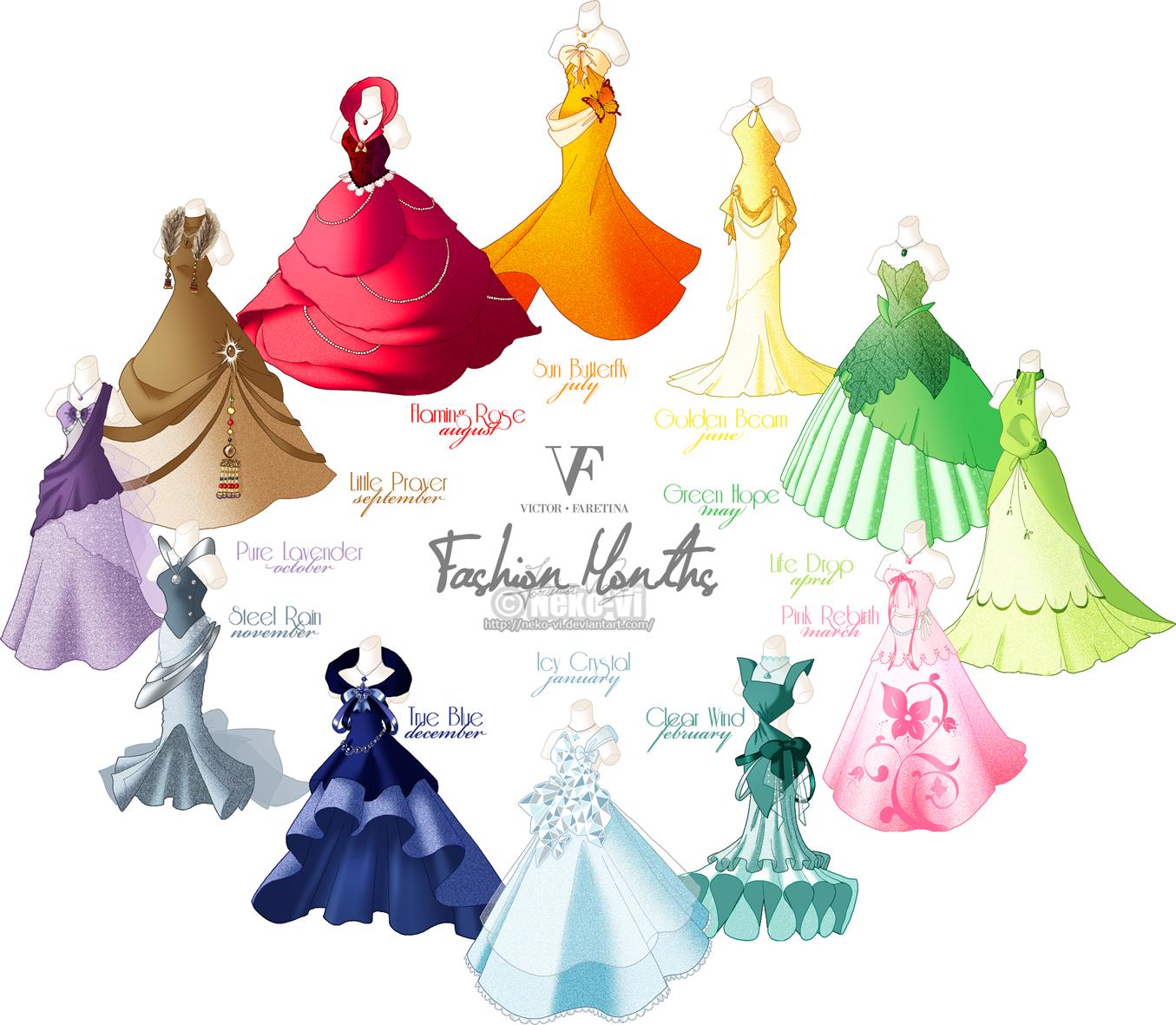 Fashion Months by Neko-Vi