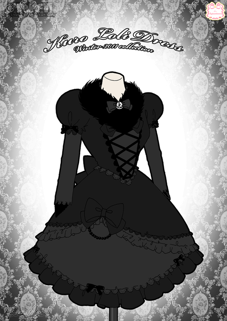 Kuro Loli Winter Dress by Neko-Vi