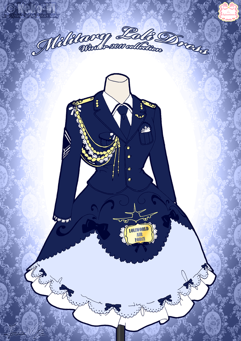 Military Loli Winter Dress