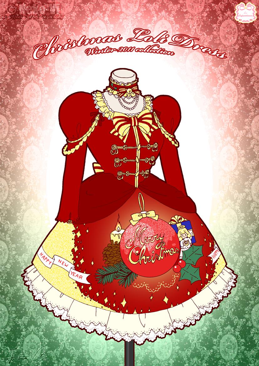 Christmas Loli Winter Dress by Neko-Vi on DeviantArt