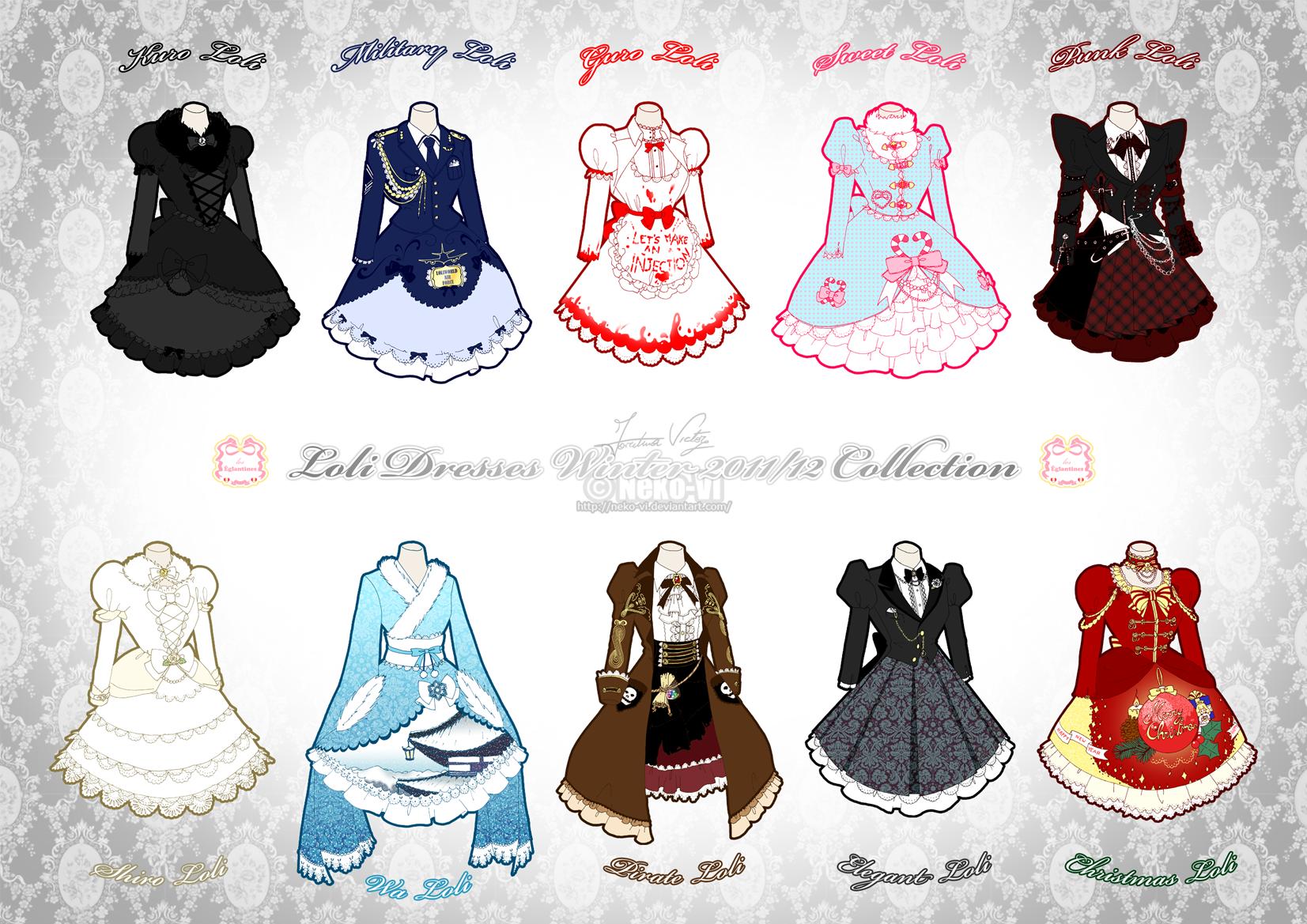 Lolita Winter 2011-12 Collection by Neko-Vi