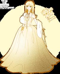 Platinum Blonde Gown