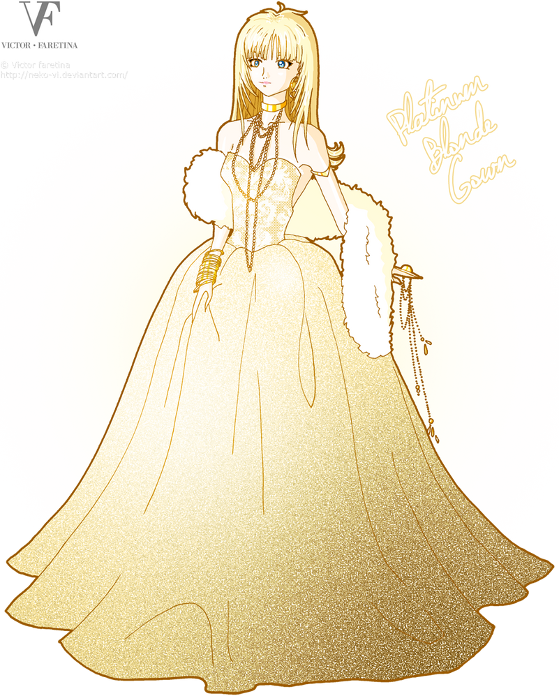 Platinum Blonde Gown by Neko-Vi