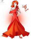 Ginger Red Gown