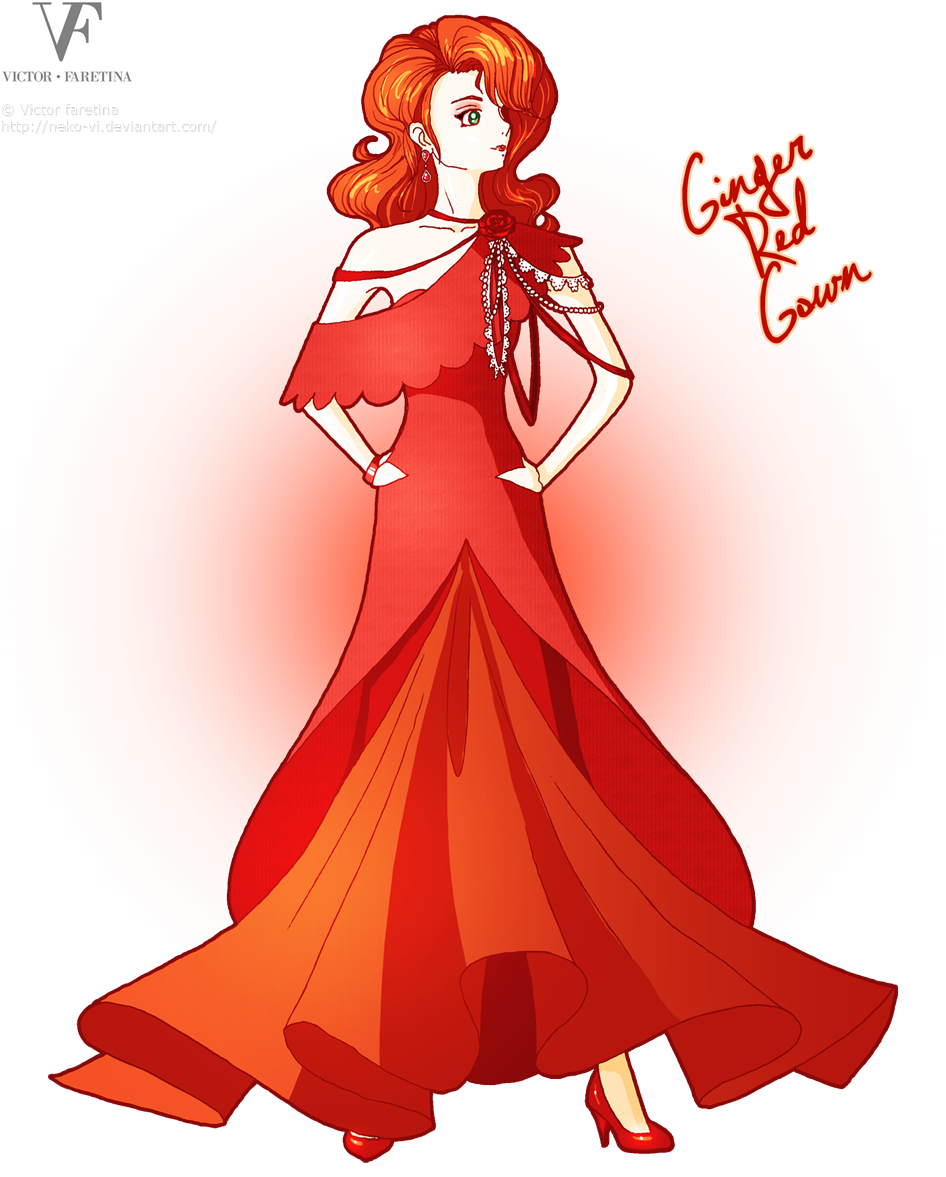 Ginger Red Gown by Neko-Vi