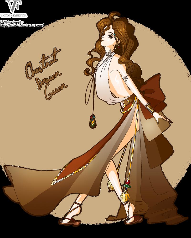Chestnut Brown Gown by Neko-Vi