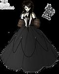 Raven Black Gown
