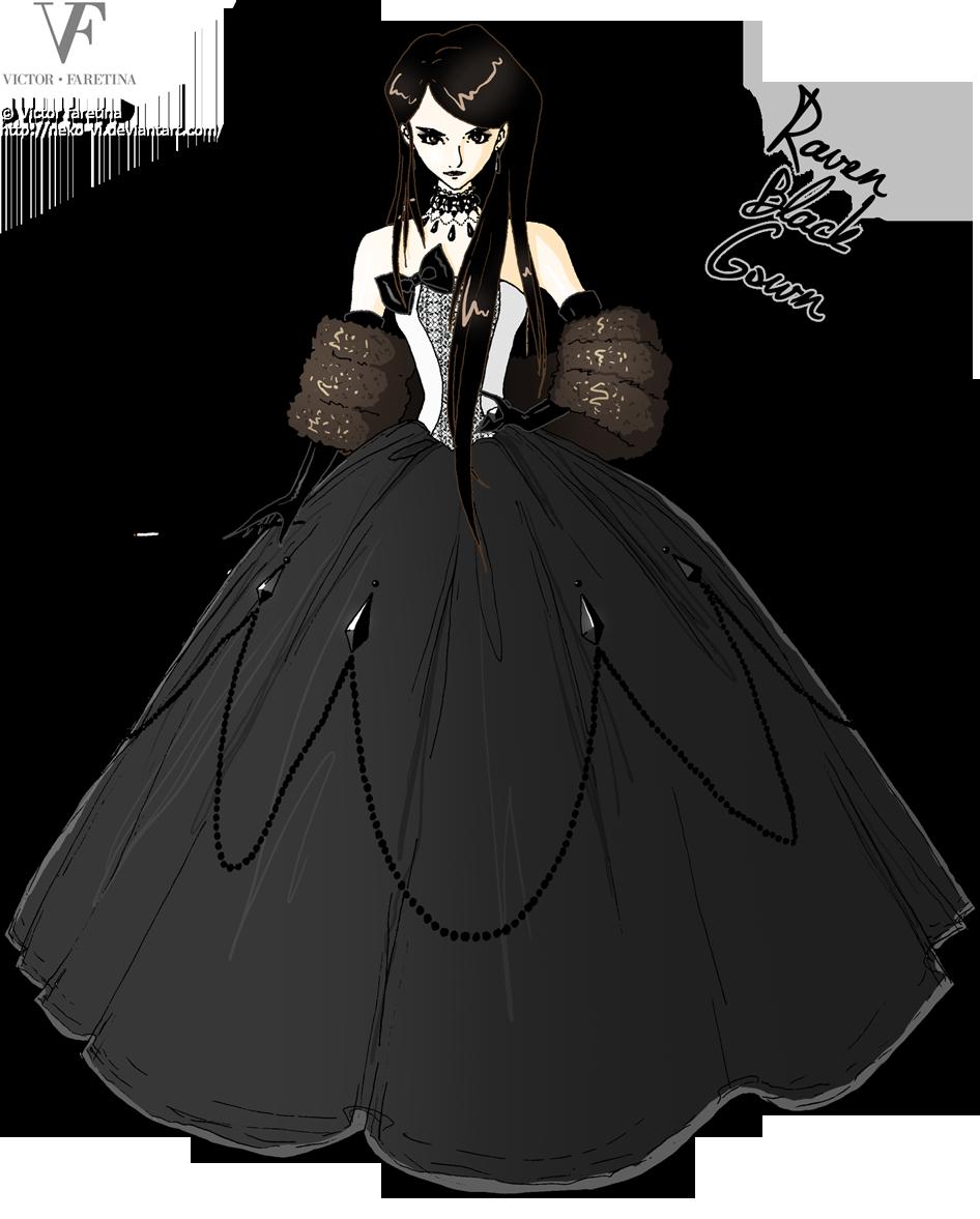 Raven Black Gown by Neko-Vi
