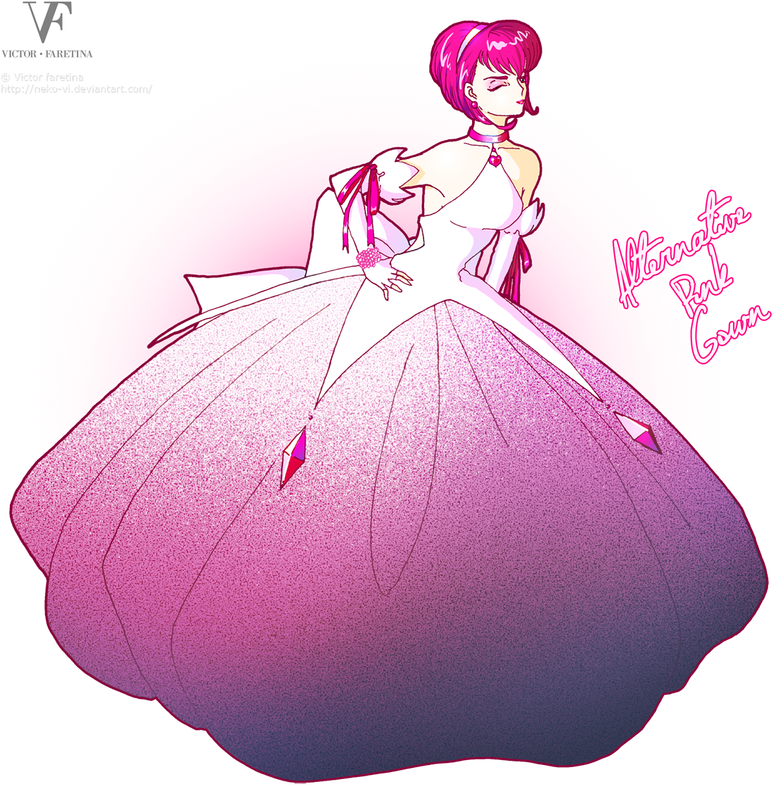 Alternative Pink Gown by Neko-Vi