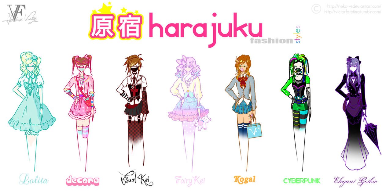 Types Of Fashion Styles Manga