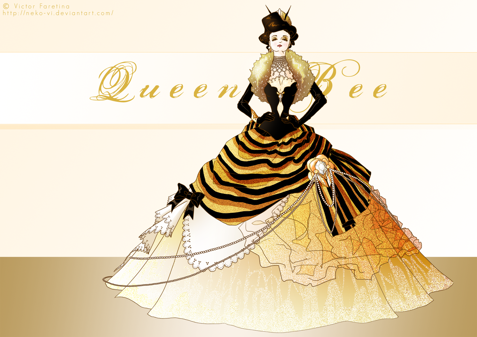 White Net Fashion Dress By Bees