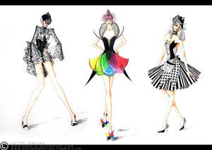 Through black, white, and colours