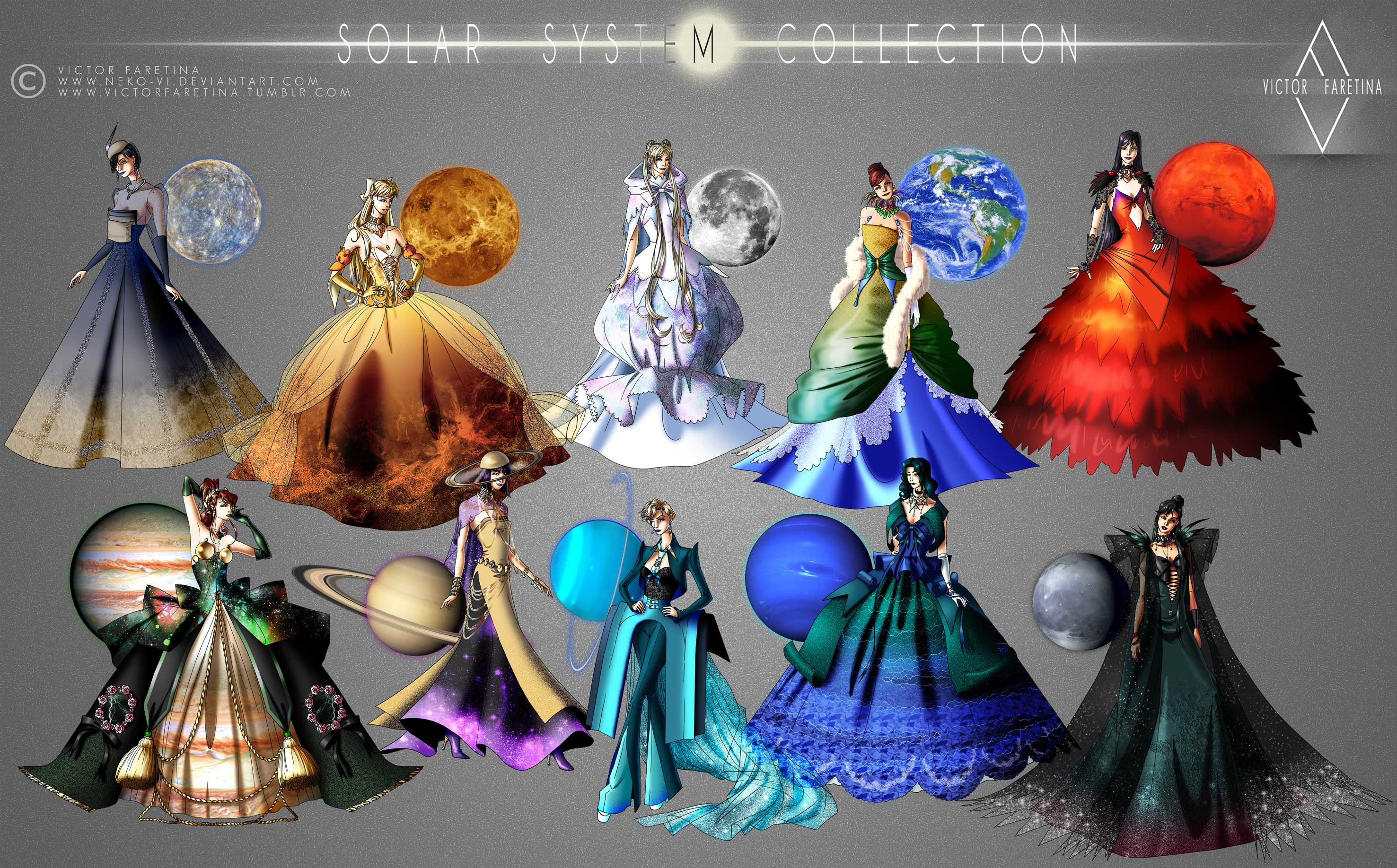 Solar System Collection by Neko-Vi