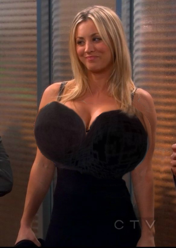 Obviously was kaley cuoco boob size the hottest