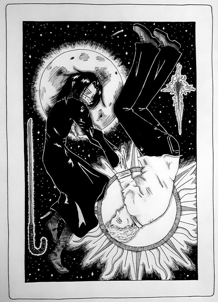 Sun and Moon Card by BlackSpiralDancer1