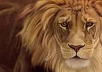 Large Lion, digital painting