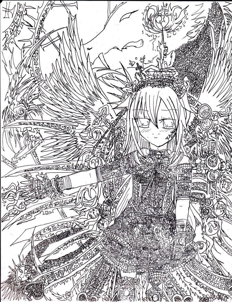 Yuri Lineart by Kanadesonya