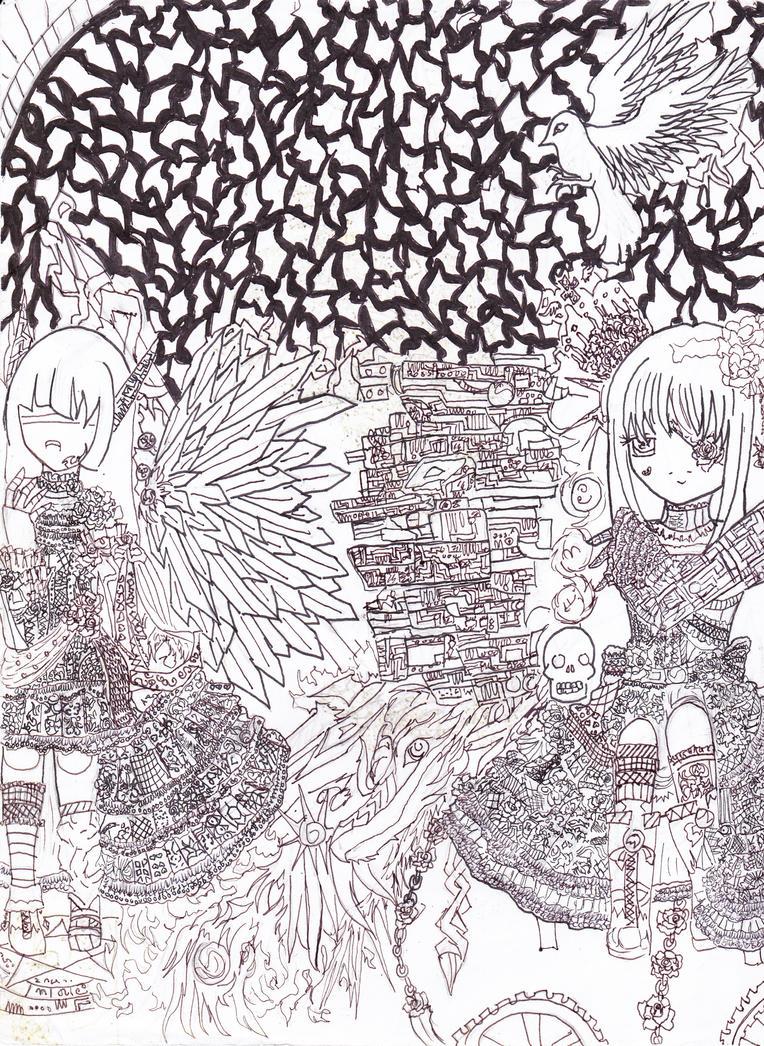 Arashi Commision Lineart by Kanadesonya