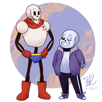 OG Undertale Sans and Papyrus by lucidlyLivid