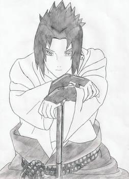 Sasuke manga style
