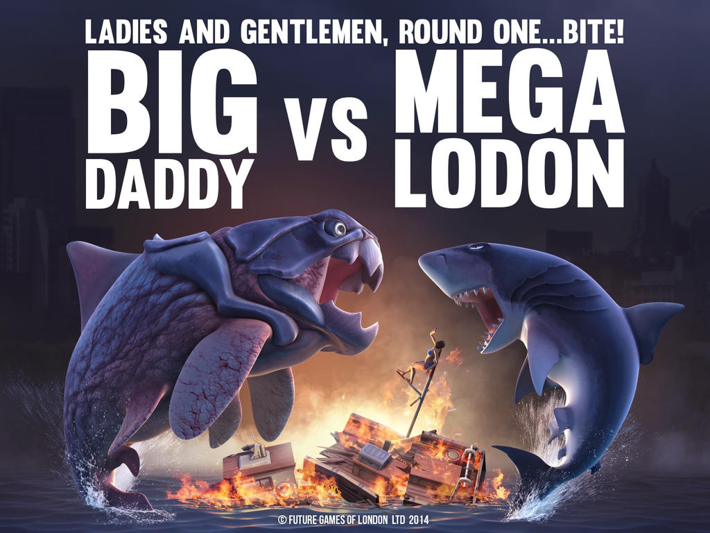 Big Daddy VS. the Megalodon by Skull-Of-Death on DeviantArt