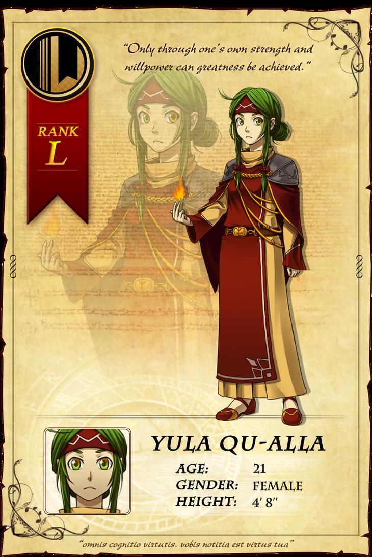 LT: Yula Qu-Alla by baka-kiiro on DeviantArt