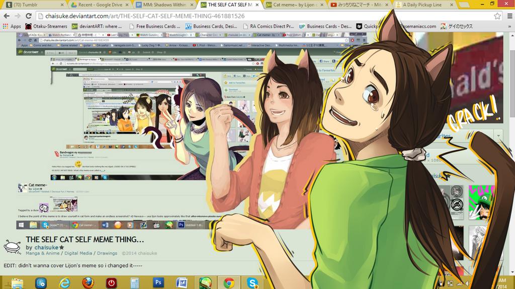 Selfie Cat Meme by baka-kiiro