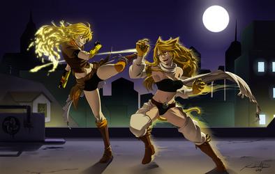 Yang vs Leone by baka-kiiro