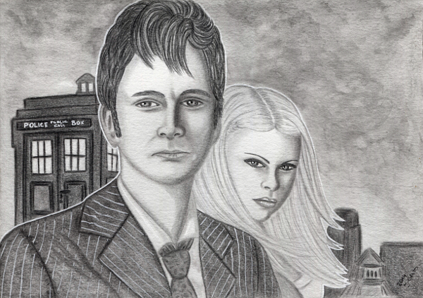 The Doctor and Rose by Jacura