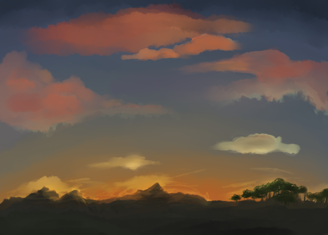 Sunsettlin' Mountains by Jay572