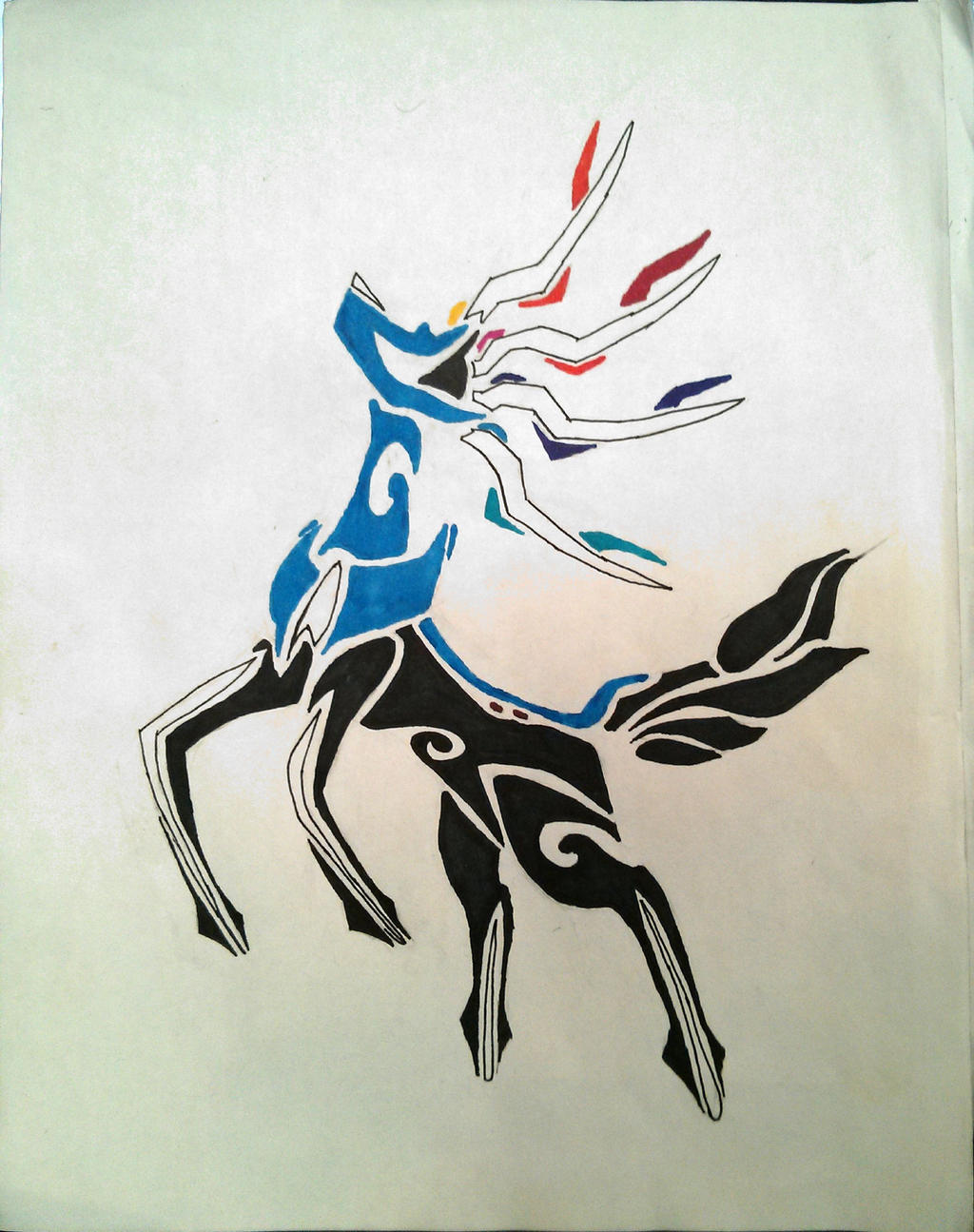 Tribal Xerneas by Areohawk