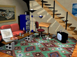 basement studio v1 WIP by rapidograph