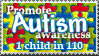 autism stamp by rapidograph