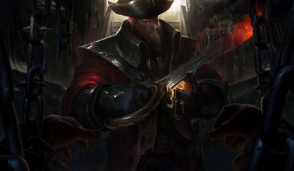 League of legends Gangplank splash art