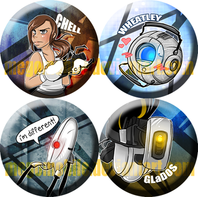 portal 2 button designs by megomobile