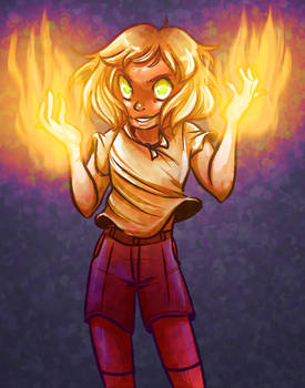 a sassy lava fire boy
