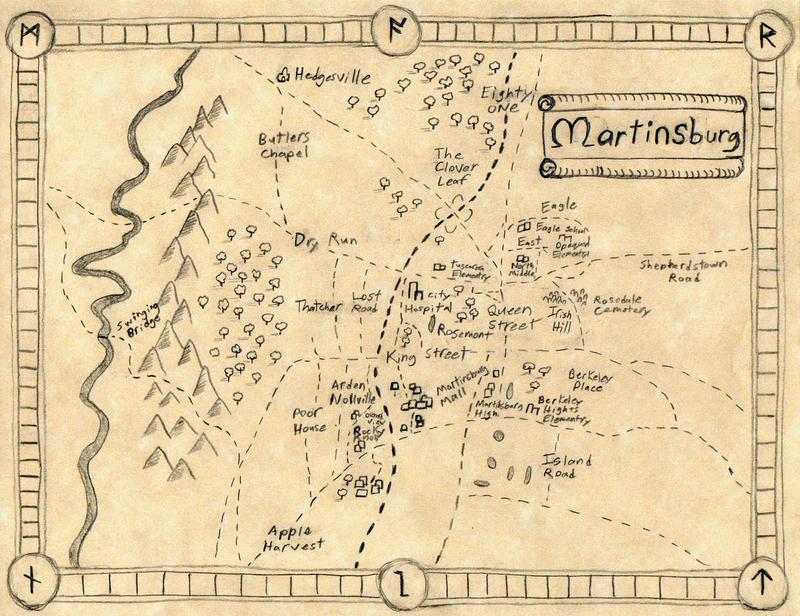 Martinsburg West Virginia Map by JeffreyScott on DeviantArt