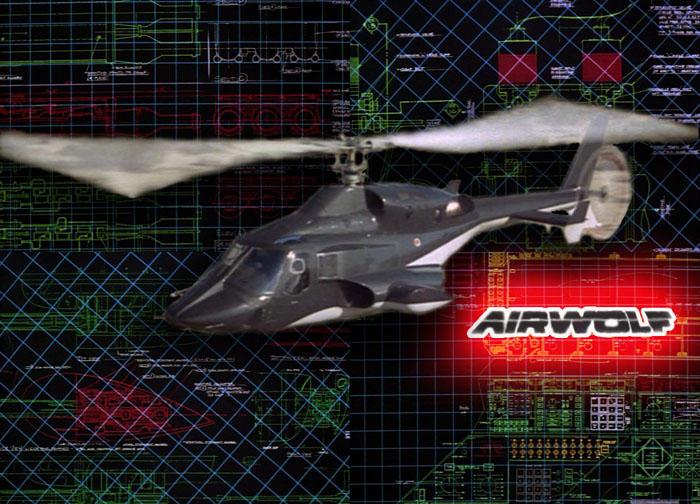 Airwolf Flys With Plans Behind by Jeffrey-Scott
