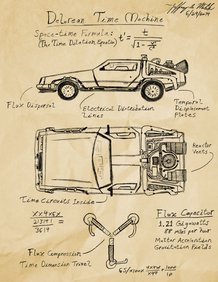 DeLorean Time Machine by Jeffrey-Scott