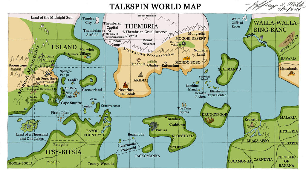 Talespin world map by jeffrey scott on deviantart talespin world map by jeffrey scott gumiabroncs Gallery