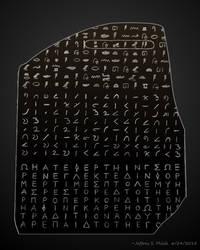 Simplified Rosetta Stone by Jeffrey-Scott