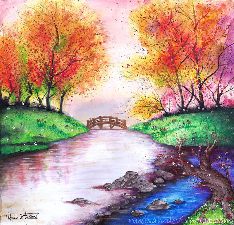 Colorful river by Rakisan-Art