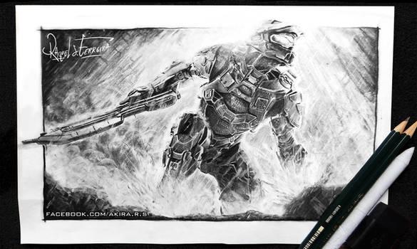 Halo -pencil drawing-