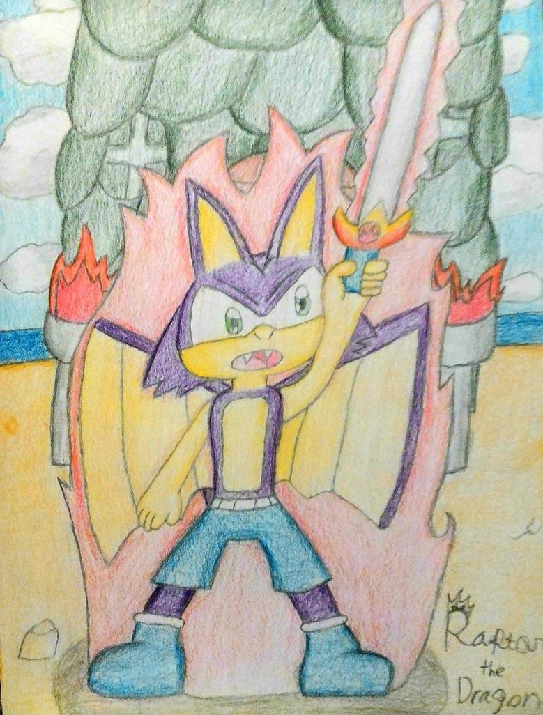 Raptor the Dragon - Sword of Power by RosietheEchidna
