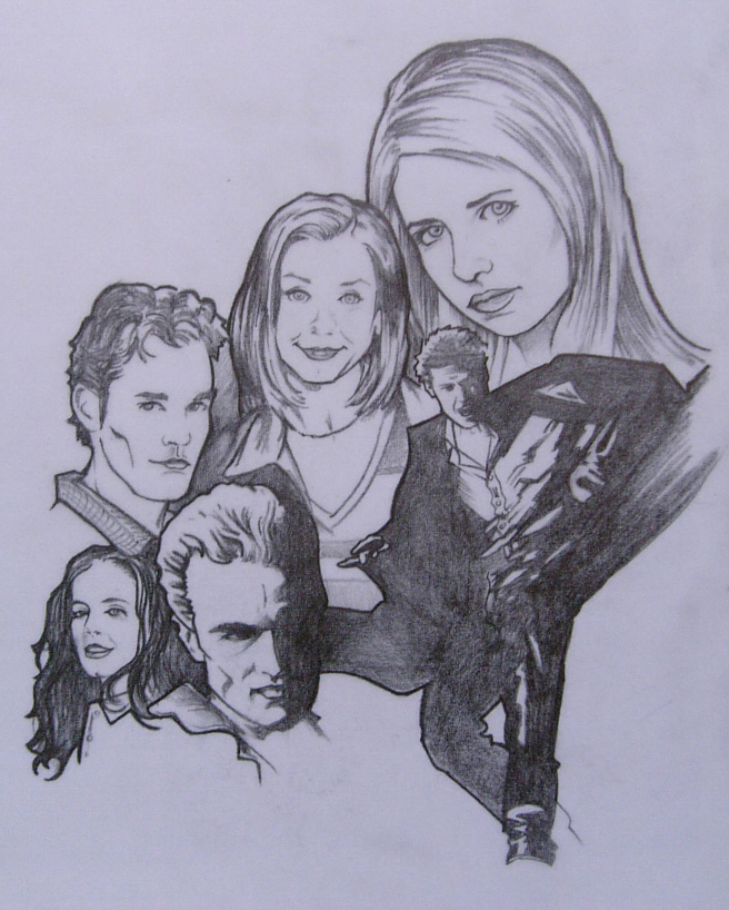 The Buffy Crew by bevrii